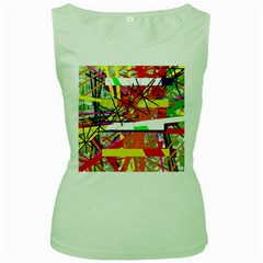 Colorful abstraction by Moma Women s Green Tank Top