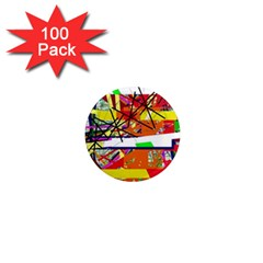 Colorful abstraction by Moma 1  Mini Magnets (100 pack)