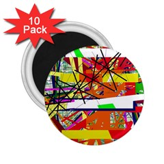 Colorful abstraction by Moma 2.25  Magnets (10 pack)