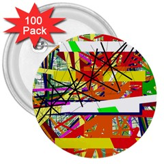 Colorful abstraction by Moma 3  Buttons (100 pack)