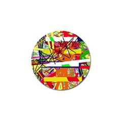 Colorful abstraction by Moma Golf Ball Marker (4 pack)