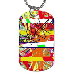 Colorful abstraction by Moma Dog Tag (Two Sides)