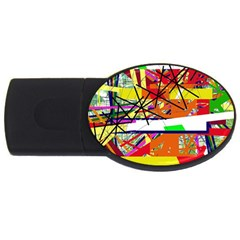 Colorful abstraction by Moma USB Flash Drive Oval (2 GB)