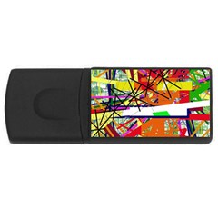 Colorful abstraction by Moma USB Flash Drive Rectangular (2 GB)