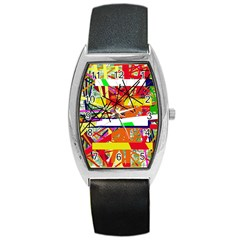 Colorful abstraction by Moma Barrel Style Metal Watch