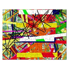 Colorful abstraction by Moma Rectangular Jigsaw Puzzl
