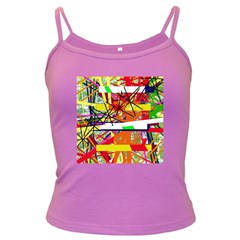 Colorful abstraction by Moma Dark Spaghetti Tank