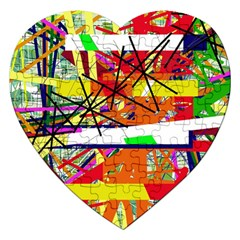 Colorful abstraction by Moma Jigsaw Puzzle (Heart)