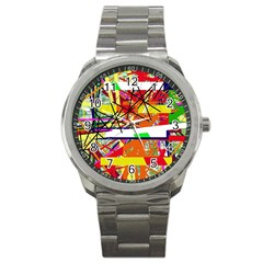Colorful abstraction by Moma Sport Metal Watch