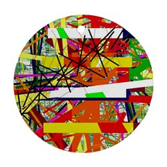 Colorful abstraction by Moma Round Ornament (Two Sides)