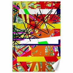 Colorful abstraction by Moma Canvas 12  x 18