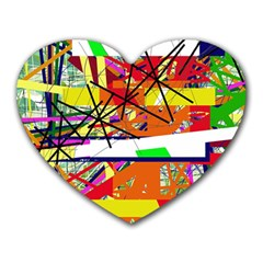 Colorful abstraction by Moma Heart Mousepads