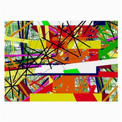Colorful abstraction by Moma Large Glasses Cloth (2-Side)