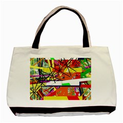Colorful abstraction by Moma Basic Tote Bag (Two Sides)