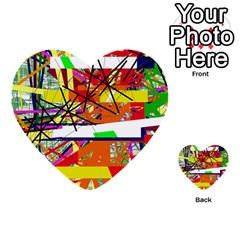 Colorful abstraction by Moma Multi-purpose Cards (Heart)