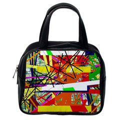 Colorful abstraction by Moma Classic Handbags (One Side)
