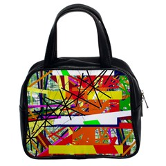 Colorful abstraction by Moma Classic Handbags (2 Sides)