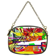 Colorful abstraction by Moma Chain Purses (One Side)