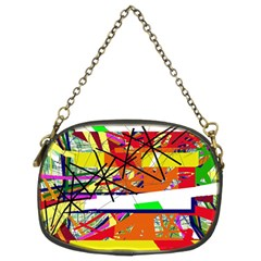 Colorful abstraction by Moma Chain Purses (Two Sides)