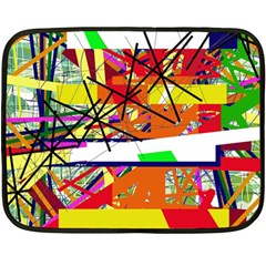 Colorful abstraction by Moma Double Sided Fleece Blanket (Mini)