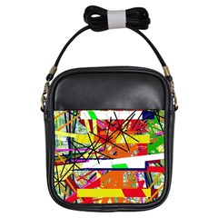 Colorful abstraction by Moma Girls Sling Bags