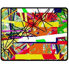 Colorful abstraction by Moma Fleece Blanket (Medium)