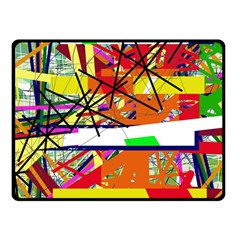 Colorful abstraction by Moma Fleece Blanket (Small)