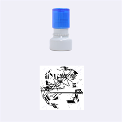 Colorful abstraction by Moma Rubber Round Stamps (Small)