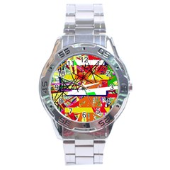 Colorful abstraction by Moma Stainless Steel Analogue Watch