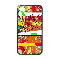 Colorful abstraction by Moma Apple iPhone 4 Case (Black)