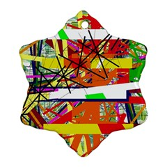 Colorful abstraction by Moma Ornament (Snowflake)