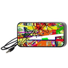 Colorful abstraction by Moma Portable Speaker (Black)