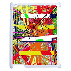 Colorful abstraction by Moma Apple iPad 2 Case (White)