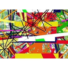 Colorful abstraction by Moma Birthday Cake 3D Greeting Card (7x5)