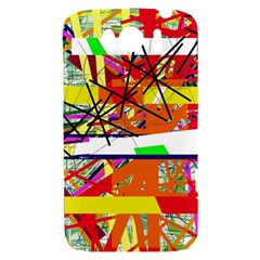 Colorful abstraction by Moma HTC Sensation XL Hardshell Case