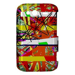 Colorful abstraction by Moma HTC Wildfire S A510e Hardshell Case
