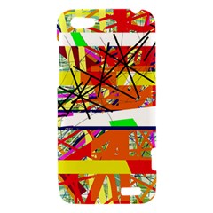 Colorful abstraction by Moma HTC One V Hardshell Case