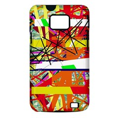 Colorful abstraction by Moma Samsung Galaxy S II i9100 Hardshell Case (PC+Silicone)