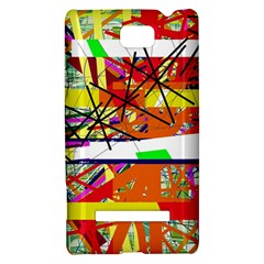 Colorful abstraction by Moma HTC 8S Hardshell Case