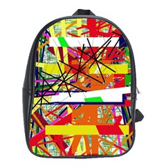 Colorful abstraction by Moma School Bags (XL)