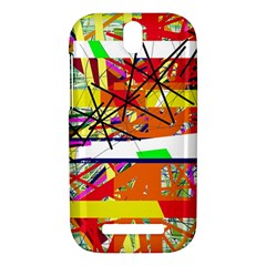 Colorful abstraction by Moma HTC One SV Hardshell Case