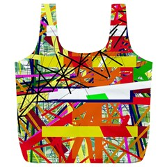 Colorful abstraction by Moma Full Print Recycle Bags (L)