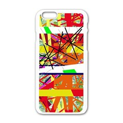 Colorful abstraction by Moma Apple iPhone 6/6S White Enamel Case