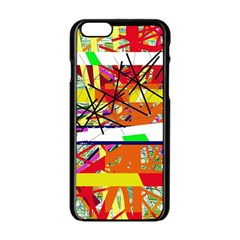 Colorful abstraction by Moma Apple iPhone 6/6S Black Enamel Case
