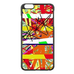 Colorful abstraction by Moma Apple iPhone 6 Plus/6S Plus Black Enamel Case