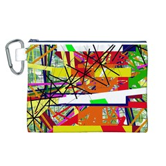 Colorful abstraction by Moma Canvas Cosmetic Bag (L)