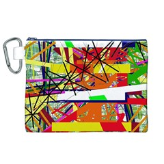 Colorful abstraction by Moma Canvas Cosmetic Bag (XL)
