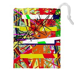 Colorful abstraction by Moma Drawstring Pouches (XXL)