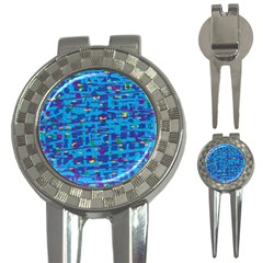 Blue decorative art 3-in-1 Golf Divots