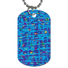Blue decorative art Dog Tag (Two Sides)